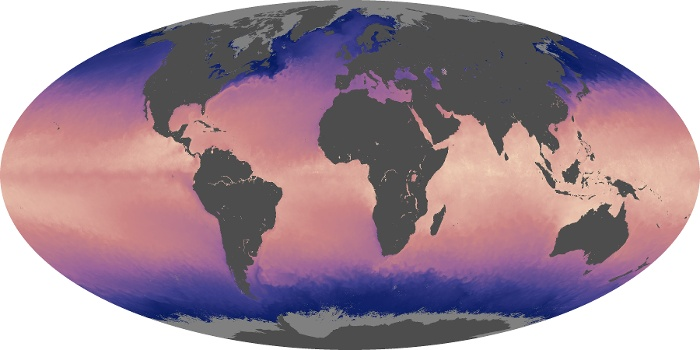 Global Map Sea Surface Temperature Image 190