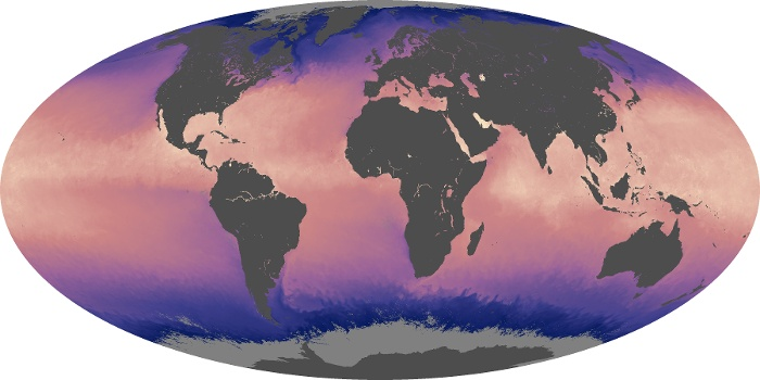 Global Map Sea Surface Temperature Image 195