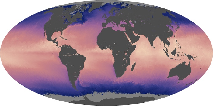 Global Map Sea Surface Temperature Image 203