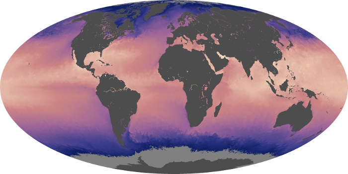 Global Map Sea Surface Temperature Image 205