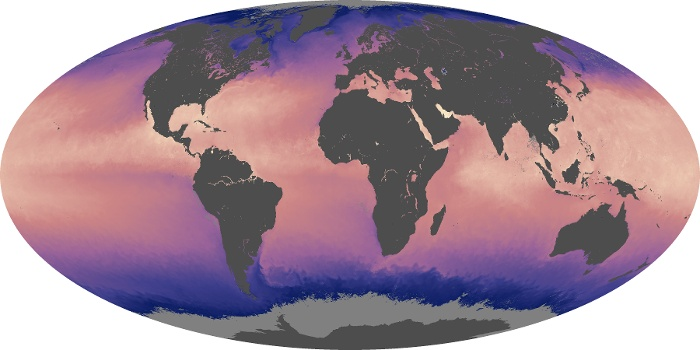 Global Map Sea Surface Temperature Image 206
