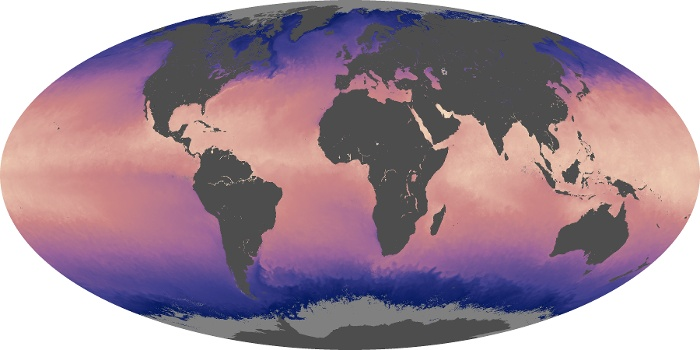Global Map Sea Surface Temperature Image 208
