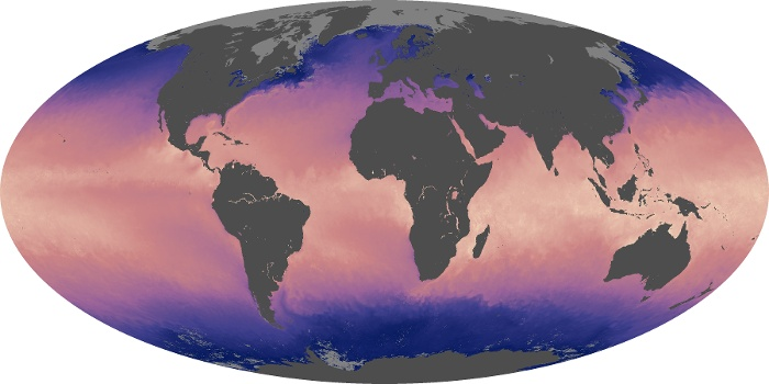 Global Map Sea Surface Temperature Image 211