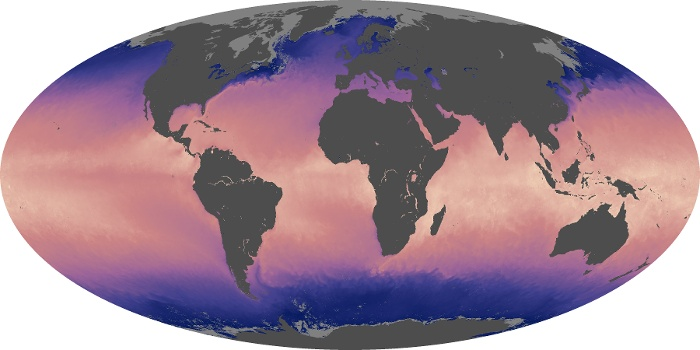 Global Map Sea Surface Temperature Image 212