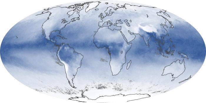 Global Map Water Vapor Image 3