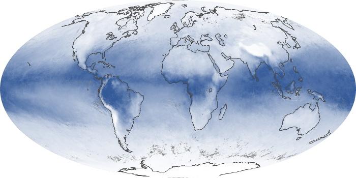Global Map Water Vapor Image 4