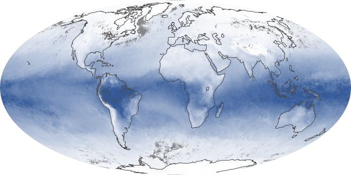 Global Map Water Vapor Image 8
