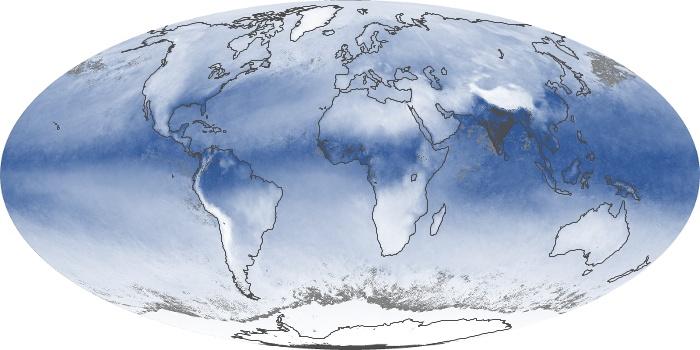 Global Map Water Vapor Image 13
