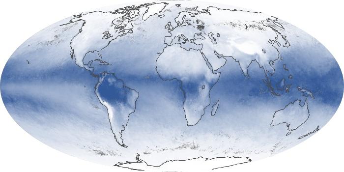 Global Map Water Vapor Image 17