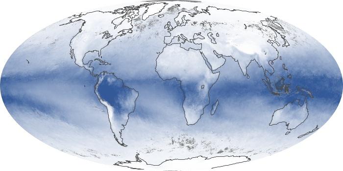 Global Map Water Vapor Image 18