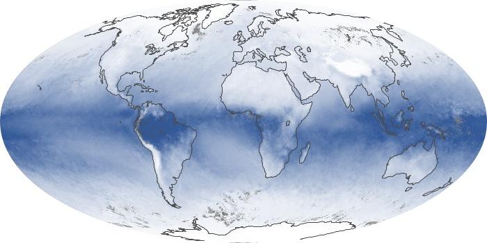 Global Map Water Vapor Image 21