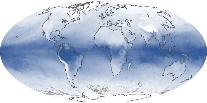 Global Map Water Vapor Image 22