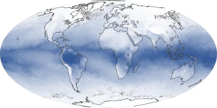 Global Map Water Vapor Image 30