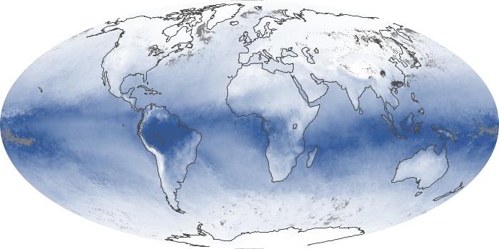 Global Map Water Vapor Image 2