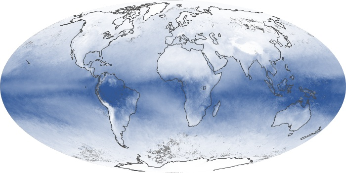 Global Map Water Vapor Image 15