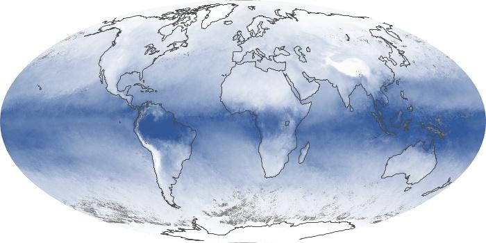 Global Map Water Vapor Image 16