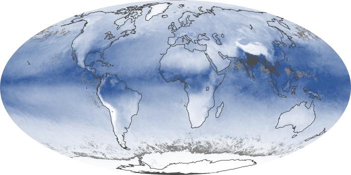 Global Map Water Vapor Image 1