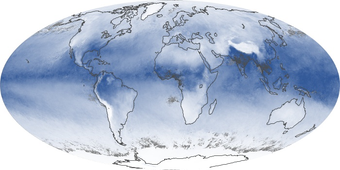 Global Map Water Vapor Image 20
