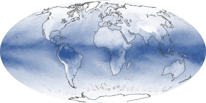 Global Map Water Vapor Image 5