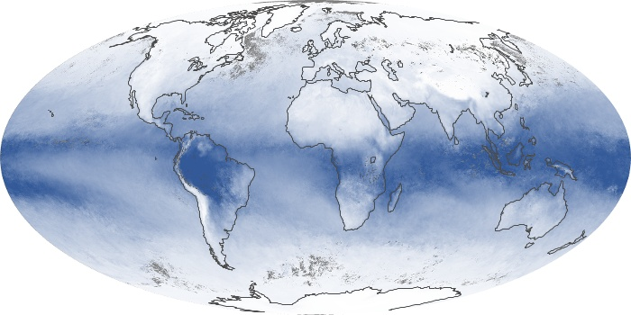 Global Map Water Vapor Image 6