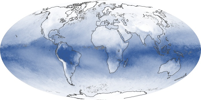 Global Map Water Vapor Image 7