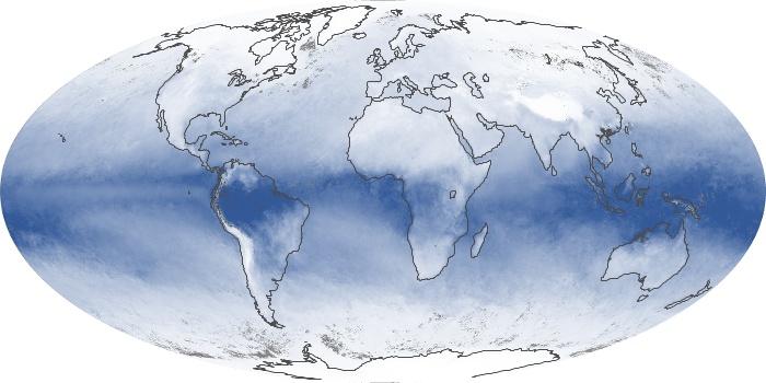 Global Map Water Vapor Image 9