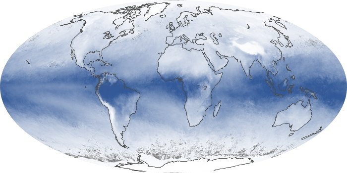 Global Map Water Vapor Image 10
