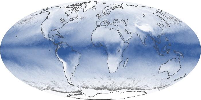 Global Map Water Vapor Image 11