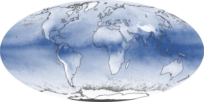 Global Map Water Vapor Image 12