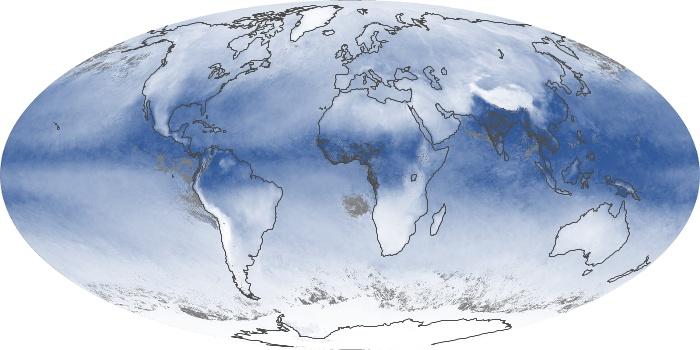 Global Map Water Vapor Image 14