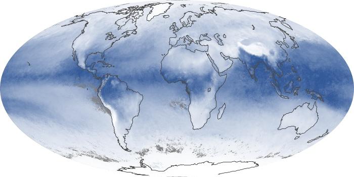Global Map Water Vapor Image 33