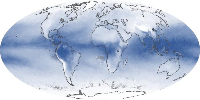 Global Map Water Vapor Image 34