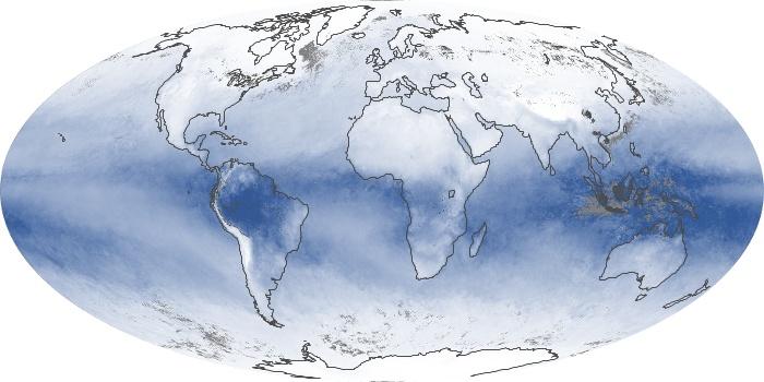 Global Map Water Vapor Image 38
