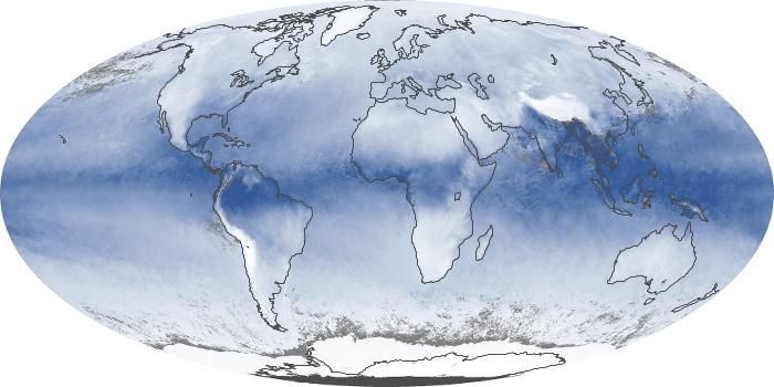 Global Map Water Vapor Image 24