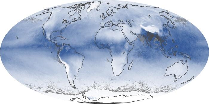 Global Map Water Vapor Image 25