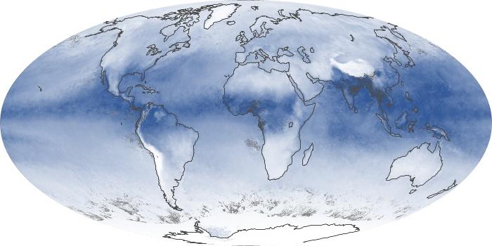Global Map Water Vapor Image 26