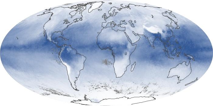 Global Map Water Vapor Image 45