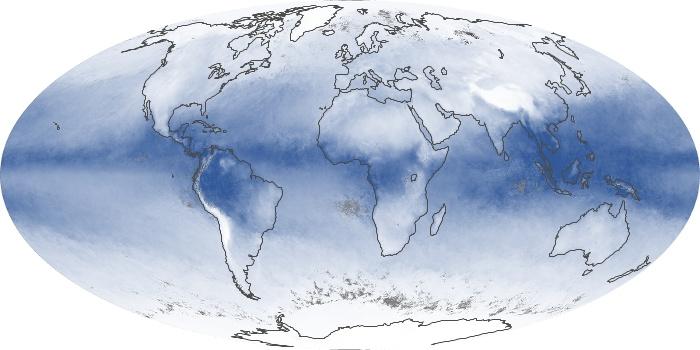Global Map Water Vapor Image 46