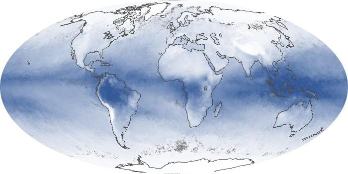 Global Map Water Vapor Image 47
