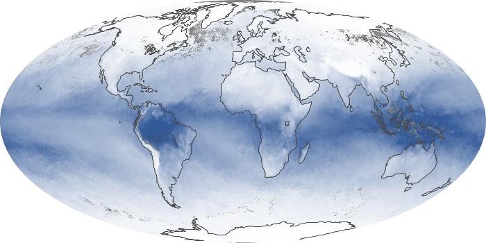 Global Map Water Vapor Image 48
