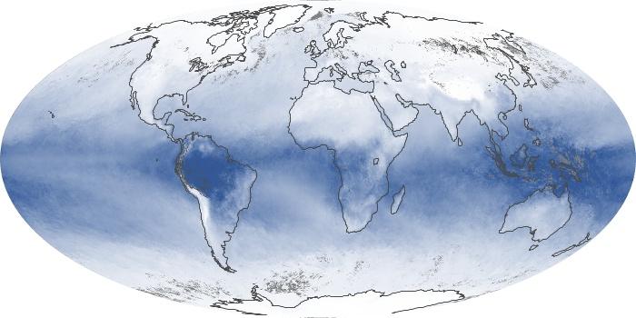 Global Map Water Vapor Image 50