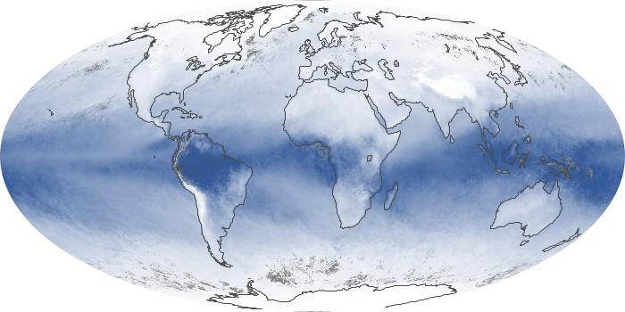 Global Map Water Vapor Image 51
