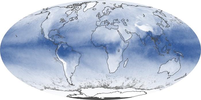 Global Map Water Vapor Image 54