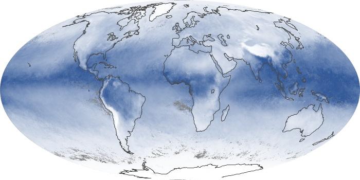 Global Map Water Vapor Image 57