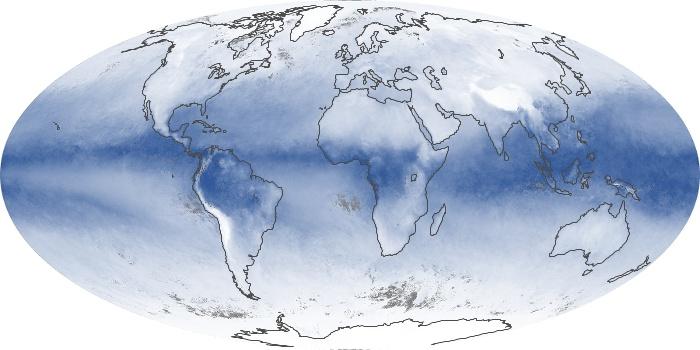 Global Map Water Vapor Image 58