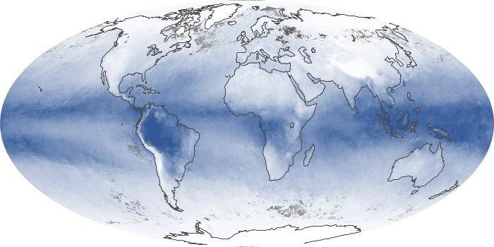 Global Map Water Vapor Image 41
