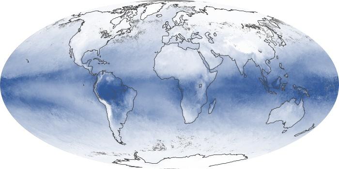 Global Map Water Vapor Image 60