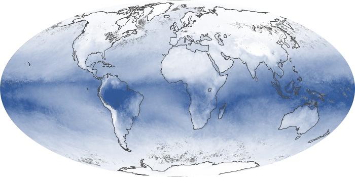 Global Map Water Vapor Image 61