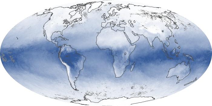 Global Map Water Vapor Image 44