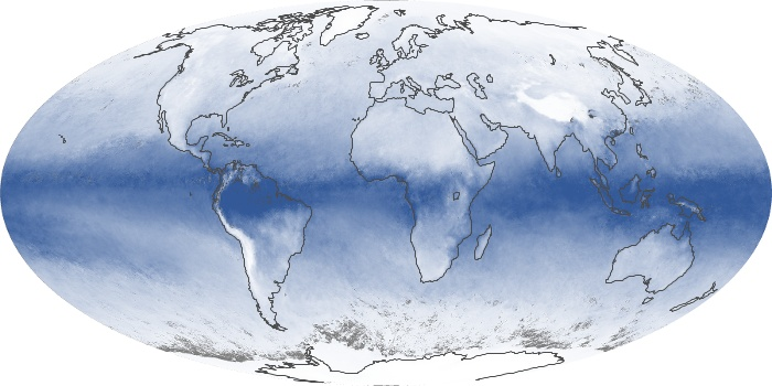 Global Map Water Vapor Image 64